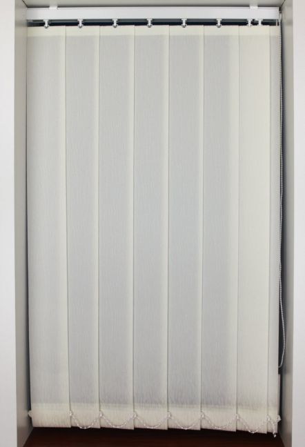 Peony Cream Vertical Blinds 89mm wide slats