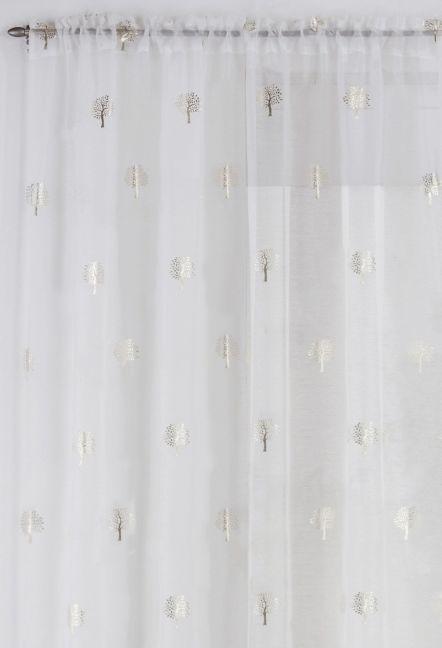 Birch Cream Voile Panel
