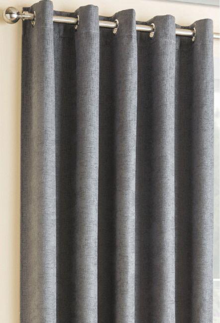 Conway Grey Eyelet Curtains 1
