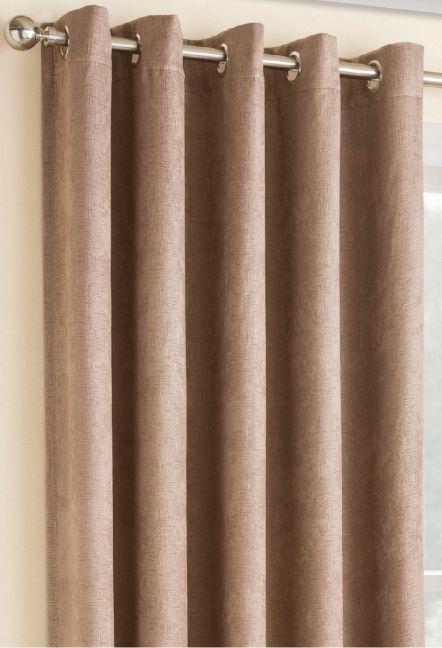 Conway Latte Eyelet Curtains 1