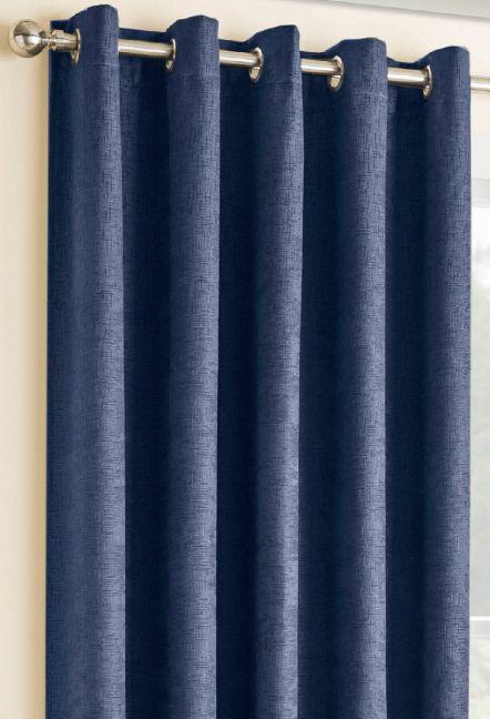 conway navy eyelet curtains 1