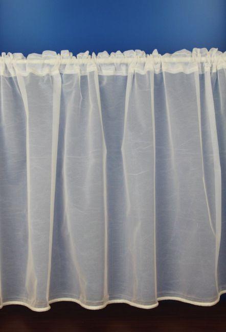 Eva Cream Plain Cafe Net Curtains