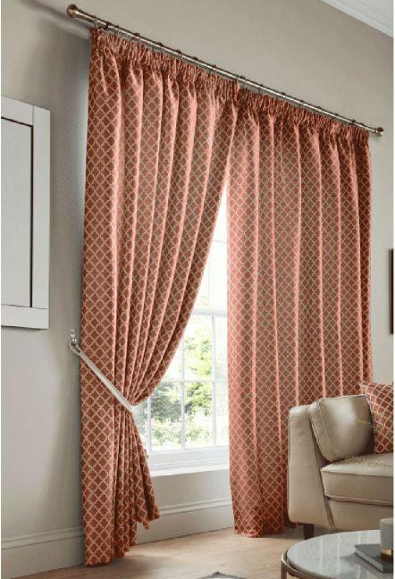 Felbrigg Orange Tape Curtains
