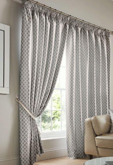 Felbrigg Silver Tape Curtains