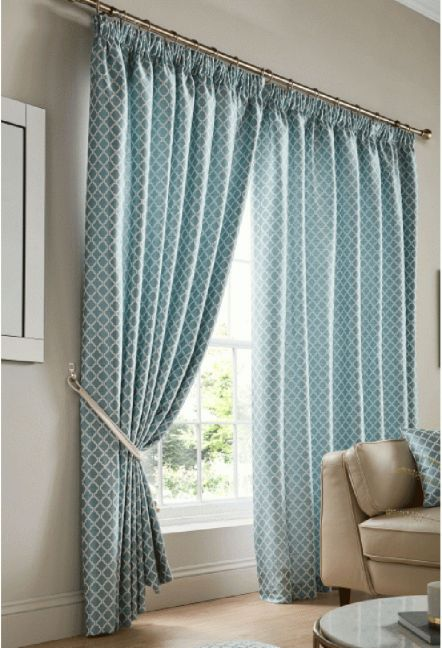 Felbrigg Teal Tape Curtains