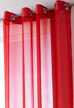 Hawaii Plain Red Voile Eyelet Panel