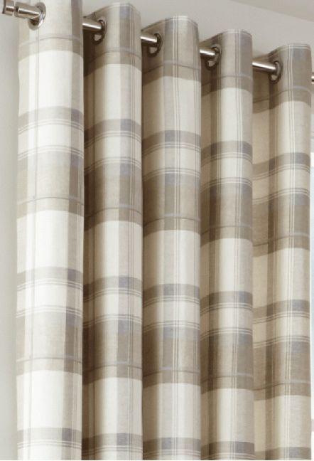 Hilton Natural Eyelet Curtains