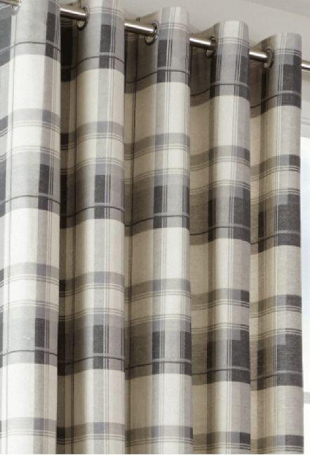 Hilton Slate Eyelet Curtains 1