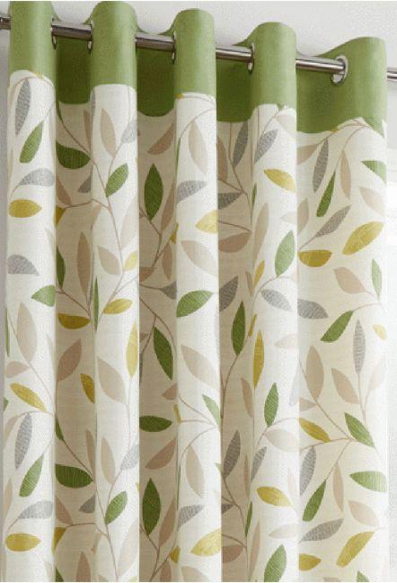 Iowa Green Eyelet Curtains 1