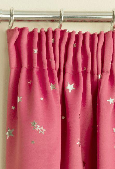 Luna Pink Tape Top Curtains 1
