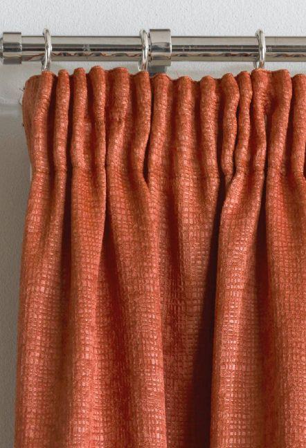 Monza Orange Thermal Curtains 1