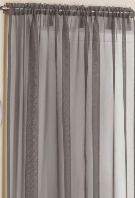 Orlando Grey Plain Voile Panel