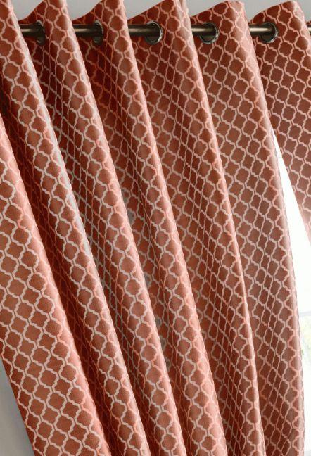 Stamford Orange Eyelet Curtains 1
