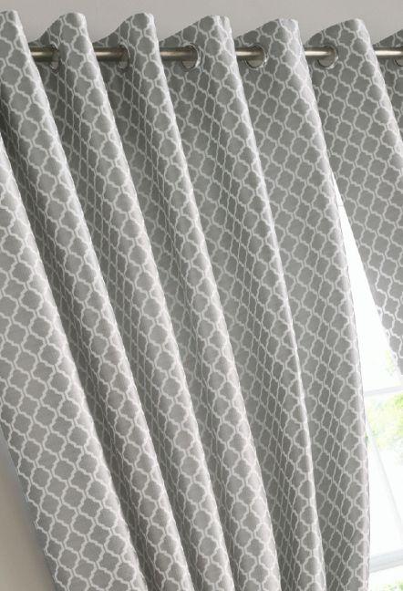 Stamford Silver Eyelet Curtains 1