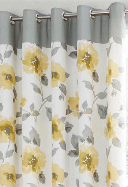 Ventura Ochre Eyelet Curtains 1