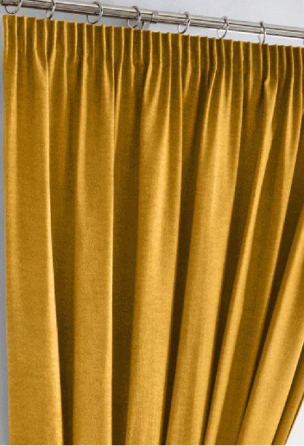 Warren Ochre Blackout Curtains 1
