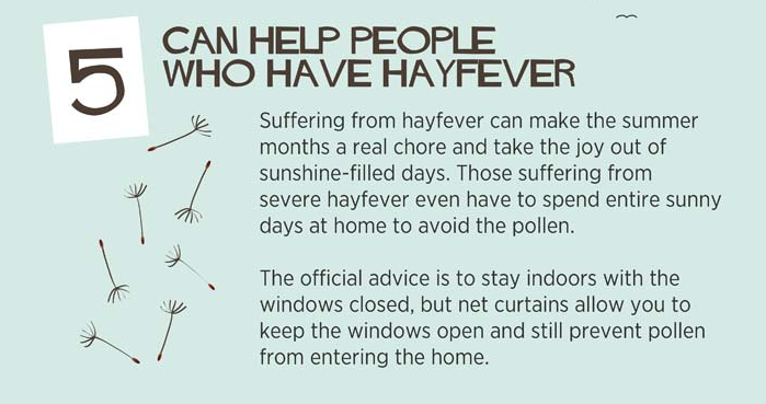 Can help people who have hay fever